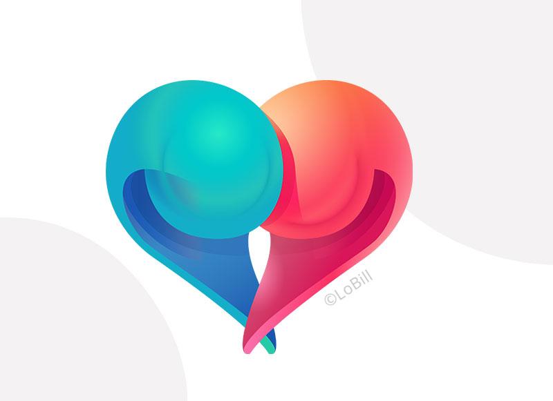 Be My Crush - logo - LoBill Design : Site web et Communication digitale imprimée