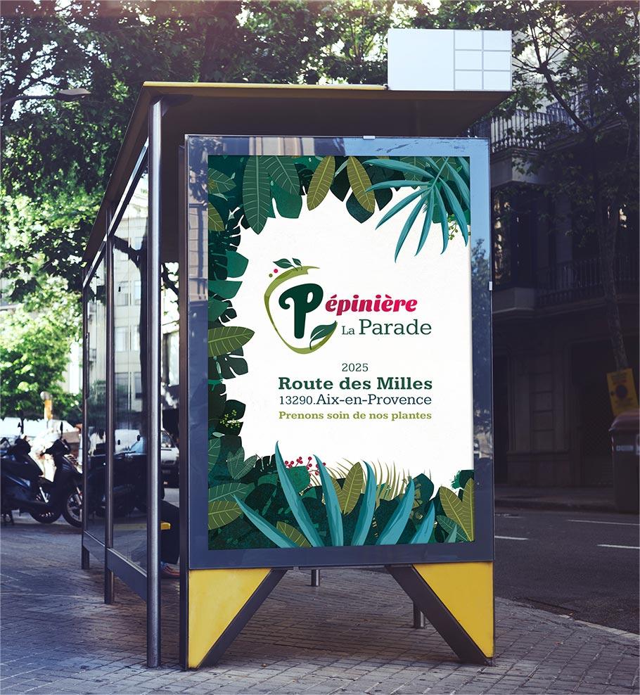 Pépinière de la Parade - affiche - LoBill Design : Site web et Communication digitale imprimée