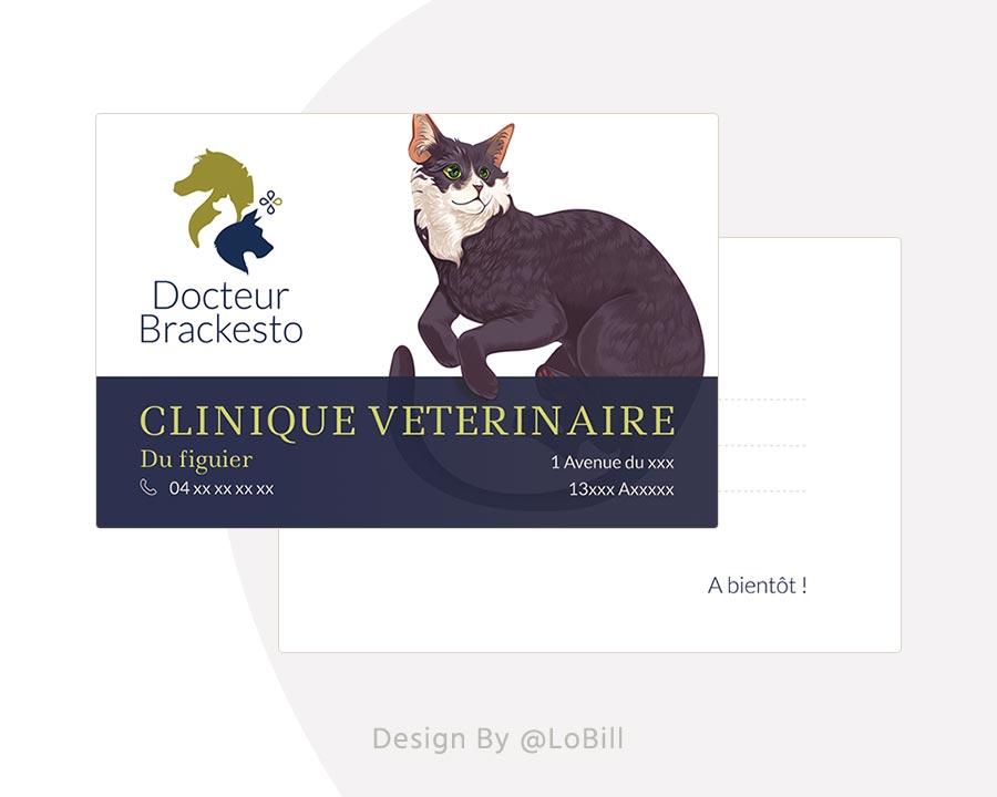 carte de visite vétérinaire - loBill Design : Site web et Communication digitale imprimée